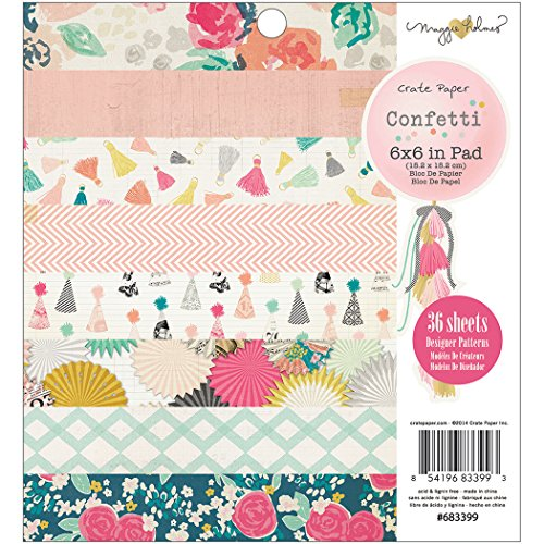 "American Crafts Crate Paper Pad 6 ""x 6"" ""-Coriandoli 3Maggie Holmes"