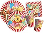 Ciao y4381 Kit Party Table Winnie The Pooh Alphabet pour 24 Personnes, Beige/Rouge