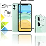iTedel 9H 2.5D Rounded Screen Protector for iPhone 11 High Definition Anti Scratch and 9H 3D Camera Lens Protector for iPhone