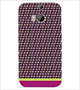HTC ONE M8 EYE PATTERN Designer Back Cover Case By PRINTSWAG