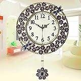 KHSKX Kreativen modernen minimalistischen Stil Wanduhren Garten Schaukel Uhr europäische Größe kreative Wohnzimmer von Quarzuhren