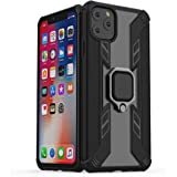 Car Magnetic Holder Ring Case On For iPhone 11 Pro MAX Case Shockproof Armor Clear PC Back Cover For iPhone 11 Pro MAX