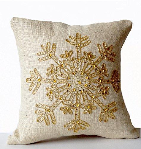 amore-beaute-hecha-a-mano-marfil-yute-oro-snow-flake-cojin-decorativo-oro-lentejuelas-cojin-de-sofa-
