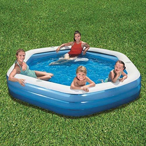 H2O GO!Bestway Sechseck Familien-Plansch- und Spiel-Becken.