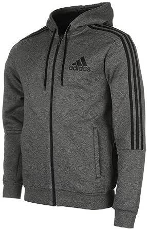 adidas Mens' Essentials 3Stripes Logo Full Zip Hoodie