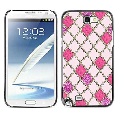 GooooStore/Dura Custodia Rigida della copertura della cassa - Pattern Gold Gates God Church Peach - Samsung Galaxy Note 2 N7100 - 2 ° Fast Peach