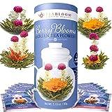 Teabloom Blühende Beerenblüten Teekugeln mit Grünem Tee 12er Pack