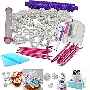 Anokay set di 54 pz formine ad espulsione per decorazioni torte e attrezzi e utensili per - Attrezzi da cucina per dolci ...