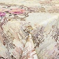 Mantel de hule lavable, color beige claro, longitud a elegir, plástico, beige, 180 x 140cm