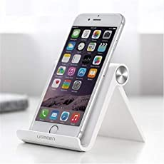 UGREEN Multi Angle Mobile Phone Stand. Premium Quality Phone Holder, Portable, Foldable, Flexible, Perfect for Gift(White)