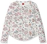 s.Oliver Mädchen Sweatshirt 66.802.41.4675, Weiß (White AOP 02A5), 152 (Herstellergröße: M/REG)