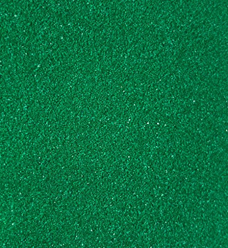 CRYSTAL KING 2,5 kg Dekosand Farbsand Grün Dunkel-Grün Streudeko Sand Zum dekorieren Dunkelgrün Streusand Streu-granulat 2500g 2,5kg Granulat Tischedeko