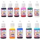 Epoxy hars Pigment - verpakking van 11 stks vloeibare epoxyhars kleurstof - zeer geconcentreerde epoxyhars kleurstof voor har