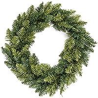 Decoración de Navidad - Corona de Navidad - Diámetro 40 cm - Color VERDE