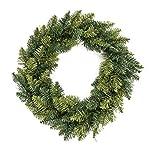 Decorazione natalizia - Corona di Natale - Diametro 40 cm - Colore: VERDE