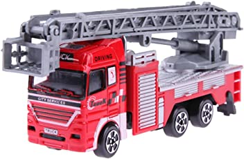 Chinatera Toy Simulation Mini Ladder Fire Engine Truck Model Freesize 1#