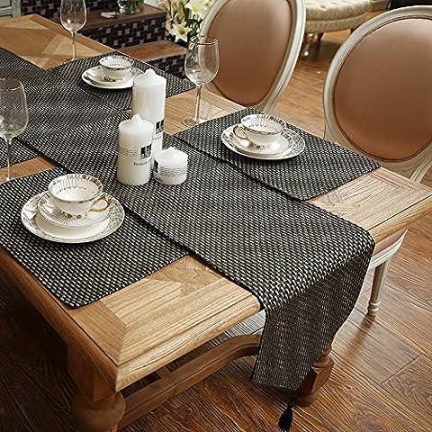 SAEJJ-Tischläufer Low-Profile-Serie von einfachen Wind Flagge Couchtisch Serviette Tisch Läufer moderne TV Schrank Bettdecke Tischdecke - Raso Musicale Mobile