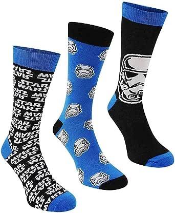 3paia di calzini da uomo o ragazzo, calzini ufficiali Disney Star Wars EP7 / EUR 39-45