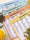52 Listes de Courses de Cuisine Futées - recto/verso, fruits et légumes de saison, descriptifs des labels, conseils et astuces, liste des substances à éviter. Vous ne ferez plus vos achats par hasard....