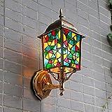 YNG Bohemian Wandleuchte Außenlaterne Kreative Villa Lampe Pastoralen Außentür Hof Wasserdichte Wandleuchte,BBB