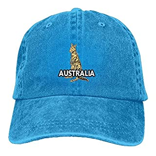 Stone Australian Kangaroo Adjustable Adult Cowboy Hat Baseball Cap for Men and Women