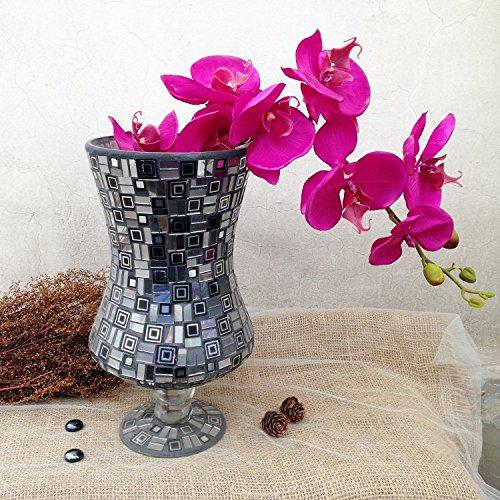 style-europen-carrs-gomtriques-noir-vase-en-verre-mosaque-manuel-accueil-dcoration-mobilier-ameublem