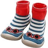 LPATTERN Calcetines Estampados Primeros Pasos con Suela de Goma Antideslizantes para Bebés Niños Zapatillas de Algodón Invier