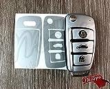 Silber Matt Schlüssel Wrap Cover Haut Audi Fernbedienung A1A3A4A5A6A8TT Q3Q5Q7
