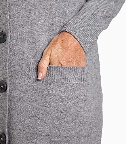 WoolOvers Maxi cardigan - Femme - Laine d'agneau Smokey Grey