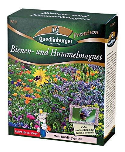 Quedlinburger Bienen-und Hummelmagnet Saatgut für 100 qm Bienenwiese, einjährige Blumenmischung