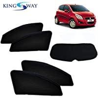 Kingsway car Magnetic Sun Shades/Curtains for Maruti Suzuki Ritz (2009-2015) with Rear windsheild (Without Zipper, Black…