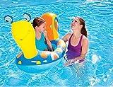 PVC Kinderkarikaturtier Schnecke Wasser Spielzeug Ponton 1-5 Jahre alte Kinder Fettpölsterchen , blue