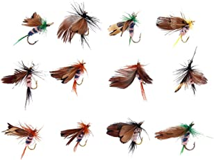 Generic 12Pcs Butterfly Design Dry Fly Fishing Flies Fish Lure Hook Accessories