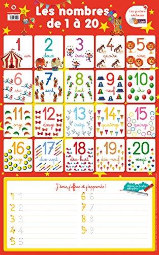 Poster-ardoise - Les nombres de 1 à 20 par Collectif