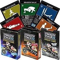 Schede di esercizio: Forza Stack 52Peso corporeo allenamento di gioco. Progettato da un militare Fitness Expert. Video Istruzioni incluse. Attrezzatura non necessaria. Bruciare i Grassi e muscolare a casa.