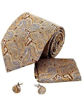 YAC2B10 Bellas Vario de colores Patr¨®n Idea Tie vestido de seda Regalo 3PT por Y&G