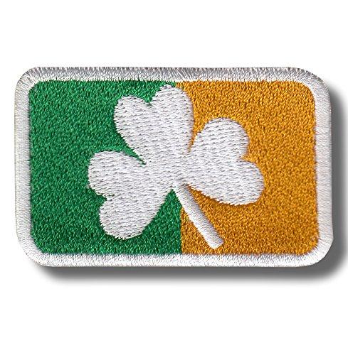 Irish Clover Flag - Bestickter Aufnäher, Patch 6x4 cm