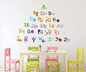Amazon Brand - Solimo Wall Sticker for Kid's Room (Play & Learn, Ideal Size on Wall - 140 cm x 100 cm)