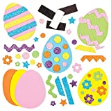 Kit Uova di Pasqua con Decori Intercambiabili e Calamita per Bambini da Personalizzare ed Esporre come Decorazione Primaverile (confezione da 10)