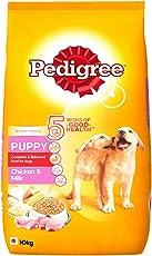 Pedigree Dry Dog Food, Chicken & Milk for Puppy – 10 kg