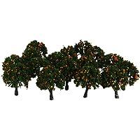 Imported 20pcs Model Train Orange Fruit Trees Garden Street Layout Scale 1/300 4CM