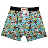 Official Licensed Men's Dandy Desperate Dan Blue Funky Boxers Shorts Trunks Small