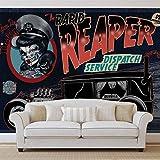 Alchemy Death Cab Cutie Auto Totenkopf - Forwall - Fototapete - Tapete - Fotomural - Mural Wandbild - (2327WM) - L - 152.5cm x 104cm - VLIES (EasyInstall) - 1 Piece