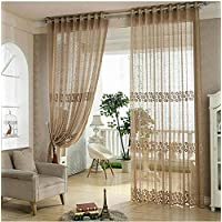 Rústico de cortina fresca cortina de cortina de ventana de tela bordada de alta calidad pura