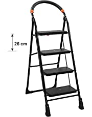 TRUPHE Anti Skid Foldable 4 Step Ladder for Home Use