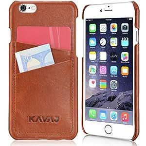 """KAVAJ iPhone 6/6S Case Lederhülle Backcover Tasche """"Tokyo"""" für das iPhone 6S und das iPhone 6 4,7 Zoll cognac braun aus echtem Leder mit Visitenkartenfach. Dünnes Backcover als edles Zubehör für das Original Apple iPhone 6/6S"""