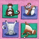 Peter Adderley – Yoga For Cats Kunstdruck (30,48 x 30,48 cm)