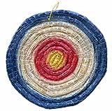 Arrowforge - Strohzielscheibe, Durchmesser 65 cm, 6 cm dick -Dreifarbig Blau-Rot-Gelb