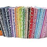 56pieces 25cm * 25cm No Repeat Design stampato tessuto di cotone floreale per patchwork, tessuti per patchwork,stoffa cotone tessuto stampato
