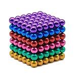 Magnetic Cube 216pcs 5mm Magnets Balls, Magnetic Sculpture Holders Square Cube Balls, Stress Relief Magic Cubes...